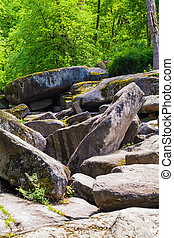 rocky boulders in the Sophia park Uman