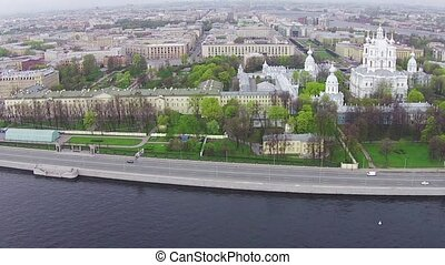Aerial View near Smolny Cathedral, Sankt-Petersburg