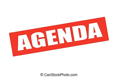 Agenda - Rubber stamp with word agenda inside, vector...