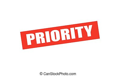 Priority - Rubber stamp with word priority inside, vector...