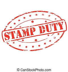 Stamp duty - Rubber stamp with text stamp duty inside,...