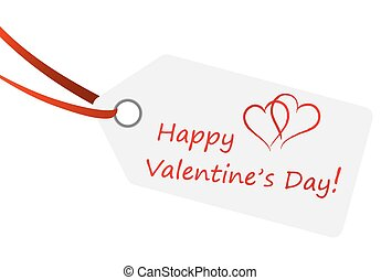 hangtag with text HAPPY VALENTINE'S DAY