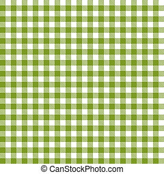 Checkered tablecloths pattern - endless - green
