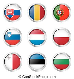 Country - Stickers: Portugal, Luxembourg, Poland,