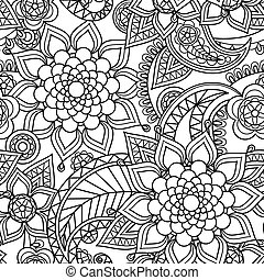 Seamless asian paisley pattern - Seamless asian paisley...