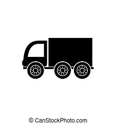 Delivery truck icon - Black vector delivery truck icon...