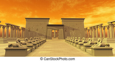 Temple of Isis - The ancient Egyptian civilization erected...