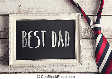 Picture frame - Rectangle picture frame with Best dad sign...
