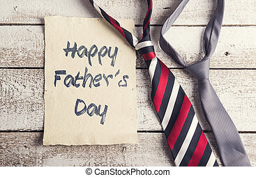 Fathers day composition - Happy fathers day sign on paper...