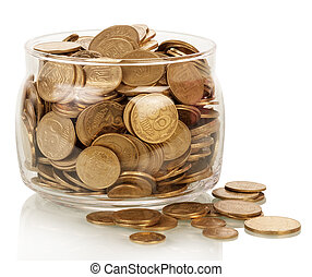 Financial reserves - The financial reserves, money in jar...