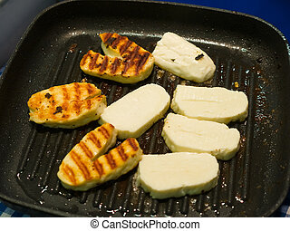Traditinal Cypriot Halloumi Cheese - Traditional food from...