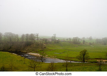 Misty Scenery in Wharfedale - Beautiful scenery and blue sky...