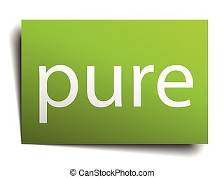 pure square paper sign isolated on white
