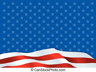 American flag - An American flag background