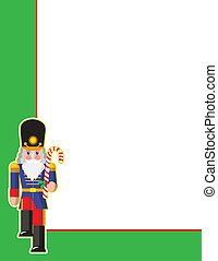 Toy Soldier Corner - A border or frame featuring a toy...