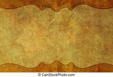 Old, Worn Paper Grunge Background with Border