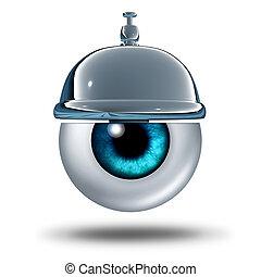Eye Health Service - Eye health service concept as a human...