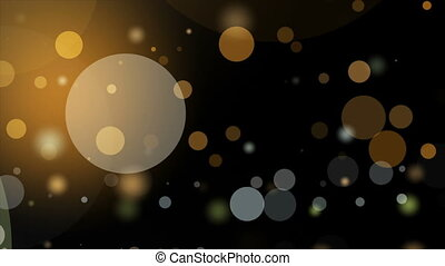 Wonderful animation with bubbles and light in motion, loop -...