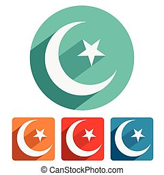 Islam symbol icon flat design