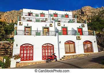 Typical Greek appartments with view on sea - A view of...