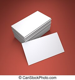 Blank business card - 3D rendering of the blank business...
