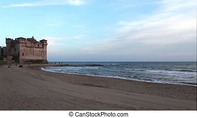 Santa Severa Beach With Castle