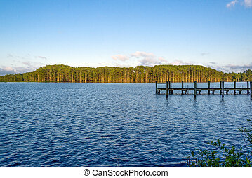 Fishing Camp at sundown - A fishing camp on the Chickahominy...