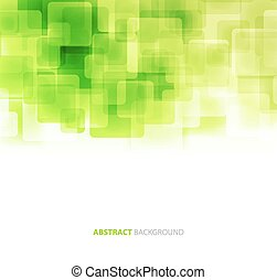 Green shiny squares technical background. Vector
