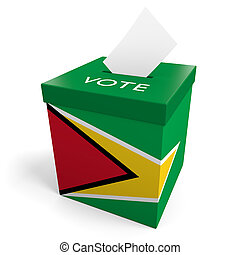 Guyana election ballot box for collecting votes.