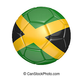 Soccer ball with flag of Jamaica - Soccer ball, or football,...