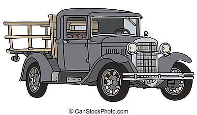 Vintage truck - Hand drawing of a vintage truck - not a real...
