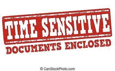 Time sensitive stamp - Time sensitive grunge rubber stamp on...