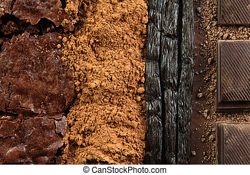 Different Kinds of Chocolate and Vanilla Beans - Different...