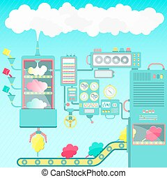 Cotton candy factory - Creative and imaginative cotton candy...