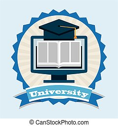 university emblem design, vector illustration eps10 graphic