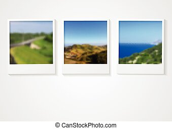 Polaroid photo frames abstract corporate design