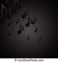 Abstract black music background