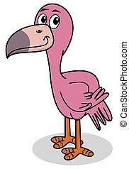 a smiling flamingo