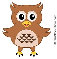 a happy brown owl