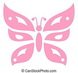 decorative pink butterfly