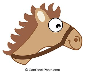 brown horse head hitching