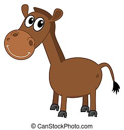 a smiling brown horse