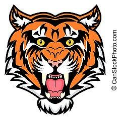 very enraged bengal tiger