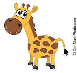 smiling giraffe profile
