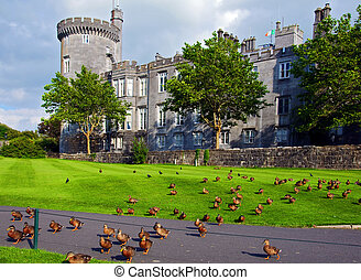 capture of vibrant irish castle in county clare - photo...