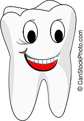 White teeth - White smiling teeth as a health concept or...