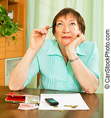 Woman worrying about their money situation