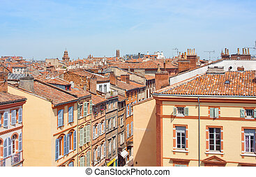 Toulouse - View on the roofs of Toulouse, France