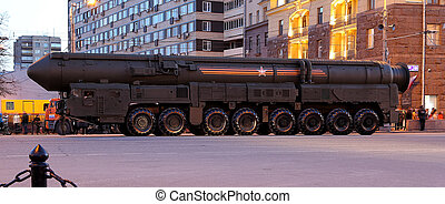 Intercontinental ballistic missile Topol-M Rehearsal of...