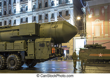 Intercontinental ballistic missile Topol-M. Rehearsal of...